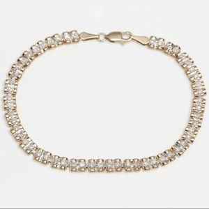 Jewelry - 10K Yellow Gold Bracelet with 0.8 carat Diamonds